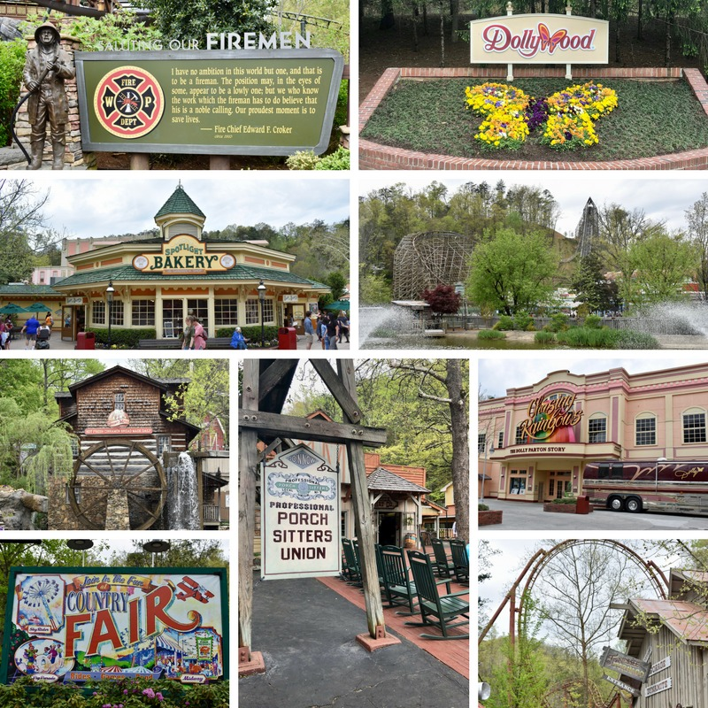 Dollywood collage Tennessee