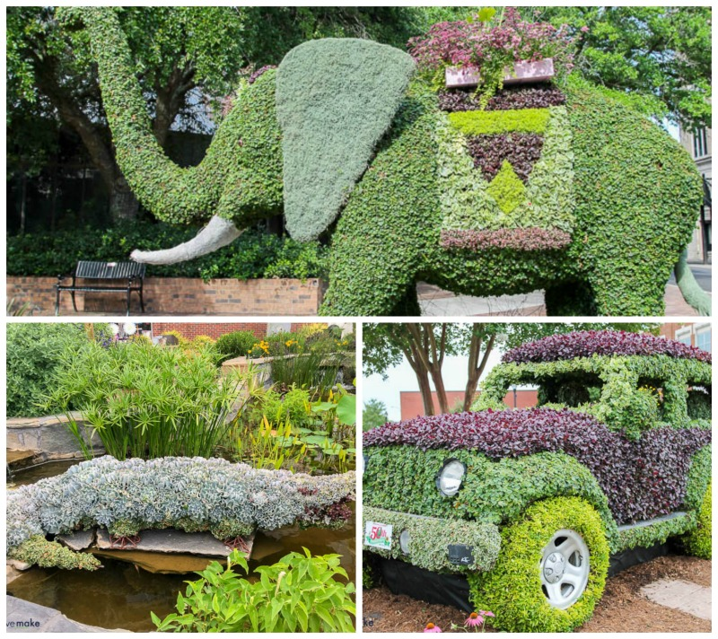 South Carolina festival of flowers topiaries