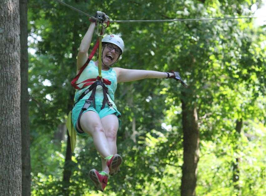 Ziplining at us whitewater center