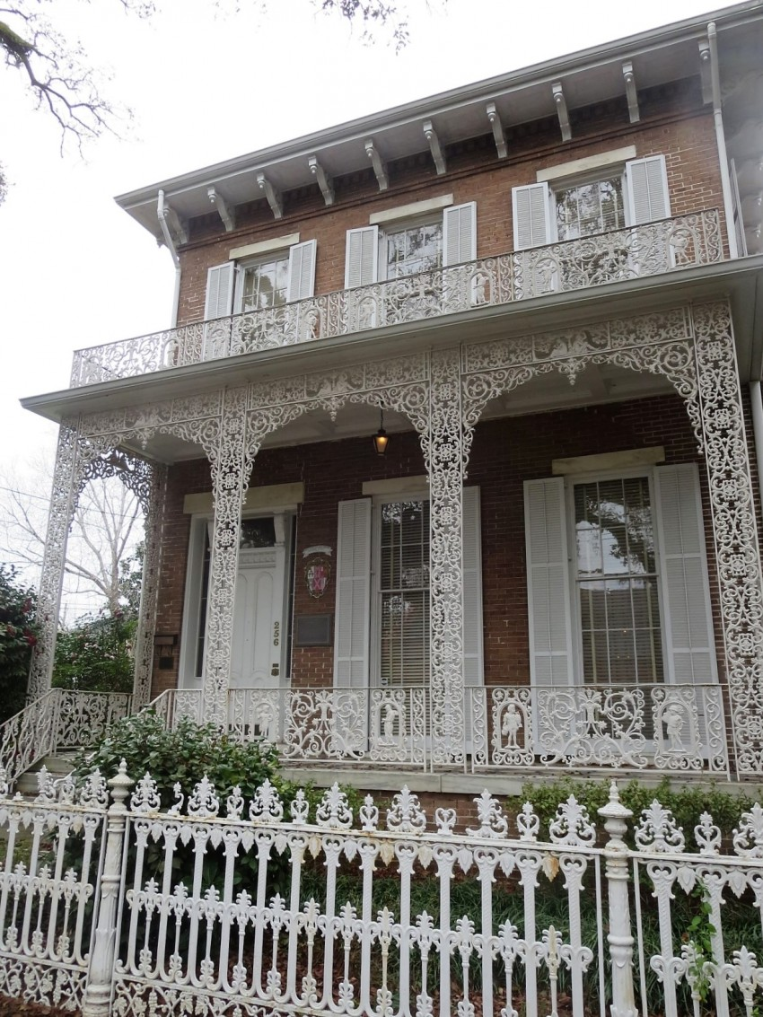lattice porch historic mobile mansion