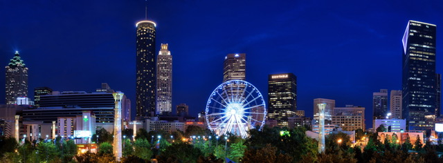 Atlanta's downtown is a cool thing to see in Atlanta in the 21st century.