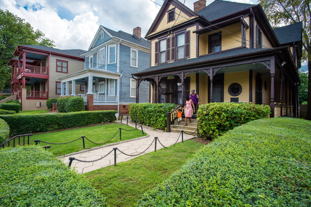 MLK's Birthplace Home is a cool thing to see in Atlanta in the 21st century.