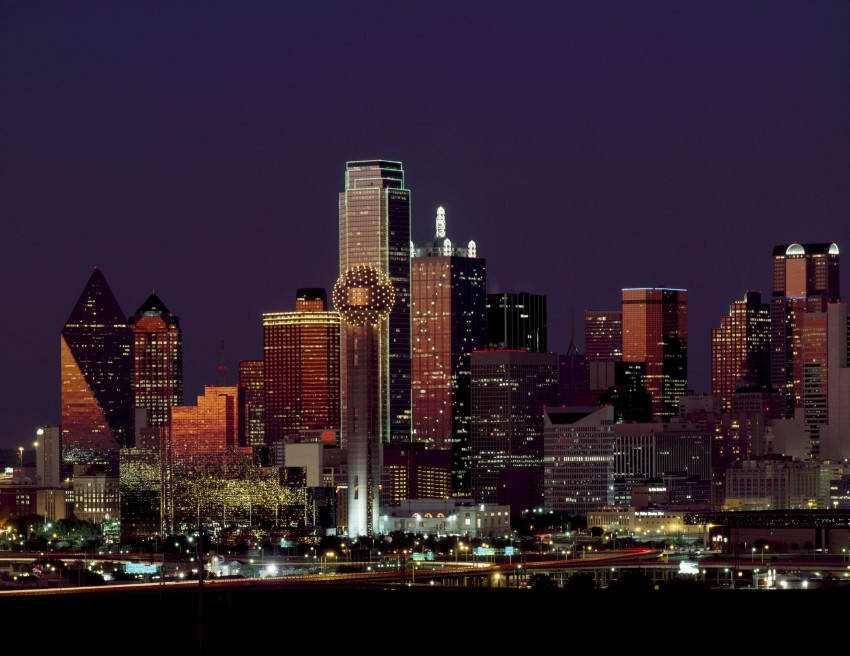 One of the five amazing reasons you'll want to visit Dallas, Texas is the iconic Dallas skyline.