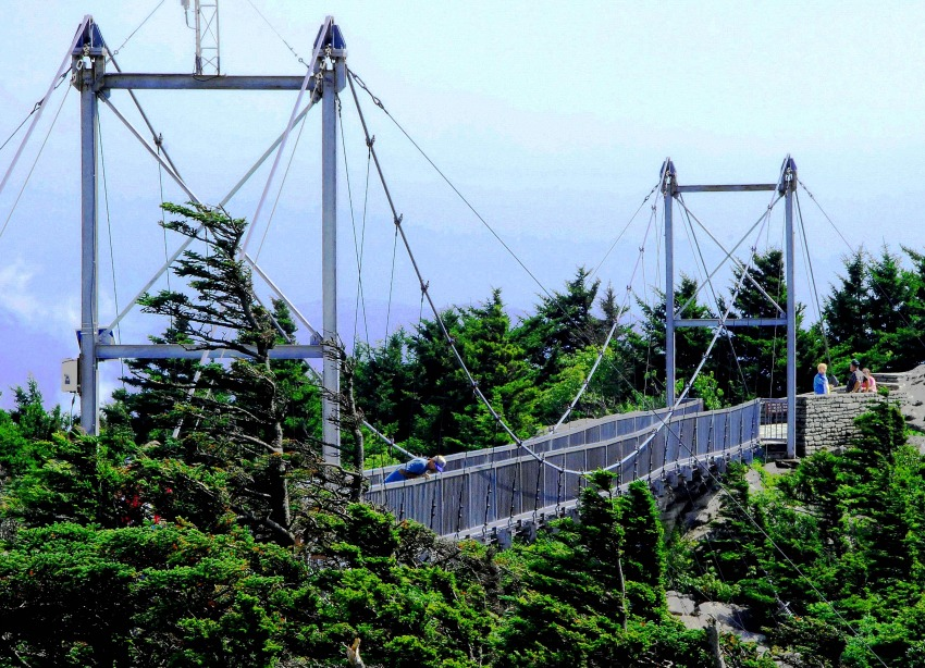The Mile High Swinging Bridge is something you must see in North Carolina.