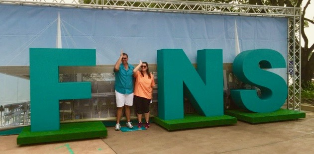 fins up Miami dolphins game