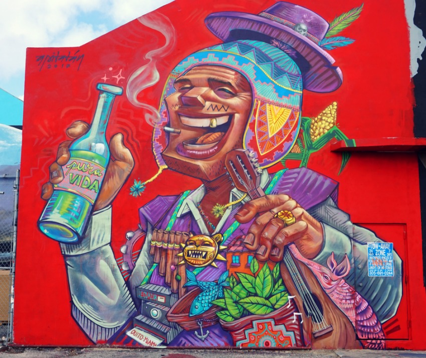 Miami's amazing street art and mural scene is located in the Wynwood neighborhood.