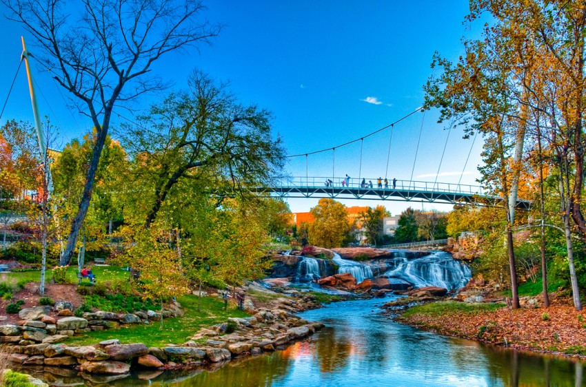 Greenville, South Carolina is our featured destination on Travel the South Bloggers.