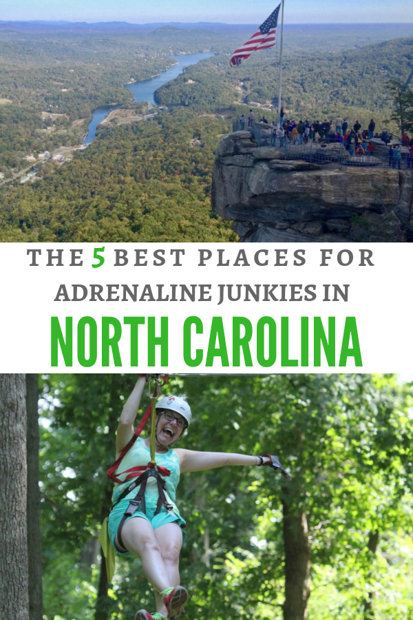 Adrenaline junkies will love zipling in the mountains of North Carolina.