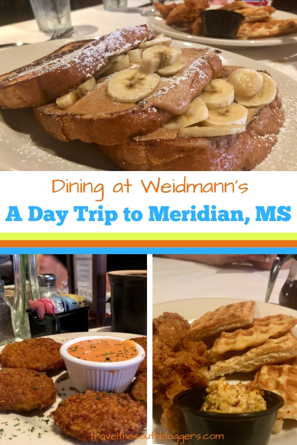 A day trip to Meridian, Mississippi must include brunch or lunch at Weidmann's, the oldest restaurant in Mississippi.