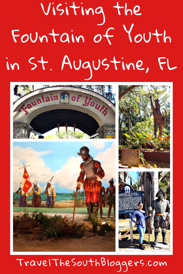 The St. Augustine Fountain of Youth Archaeological Park is a must-visit when visiting the area.