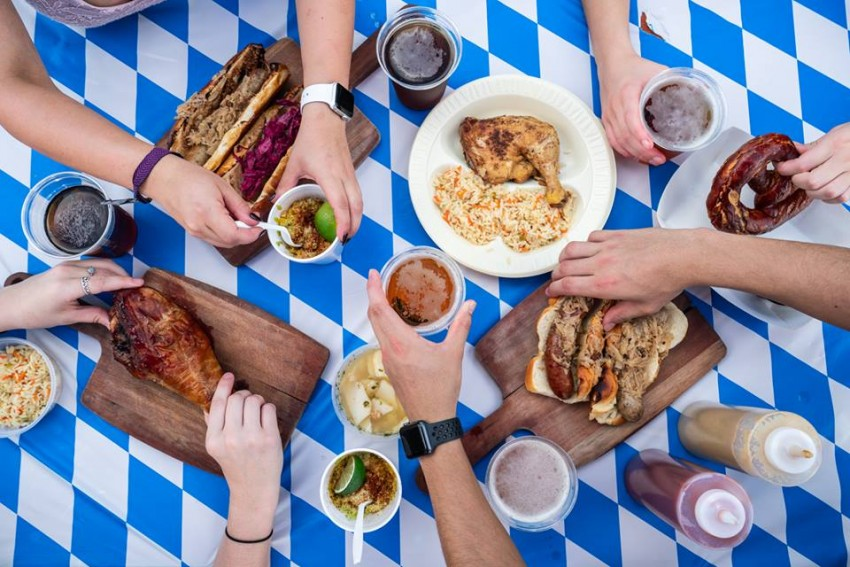 Eating at Kings Biergarten is one of our things to do in Pearland, Texas.