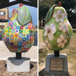 pear sculptures Pearland texas