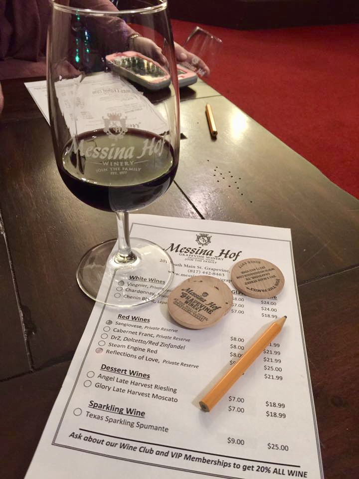 Messina Hof Winery in Grapevine is our go-to place for delicious Texas wines.