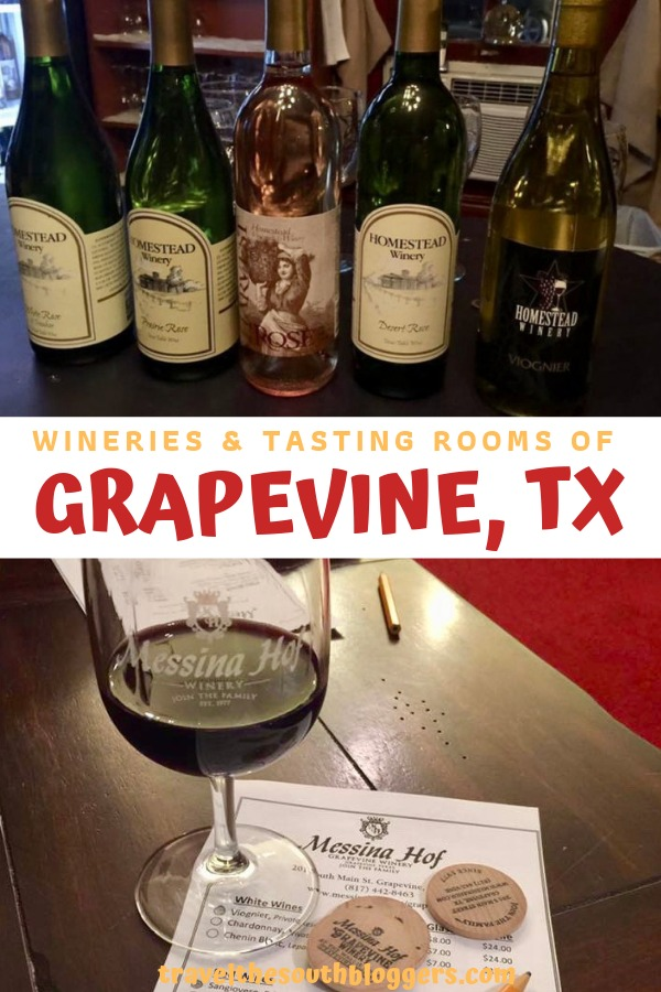 wineries and tasting rooms of grapevine pin