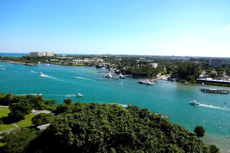 views of the inlet from the Jupiter lighthouse
