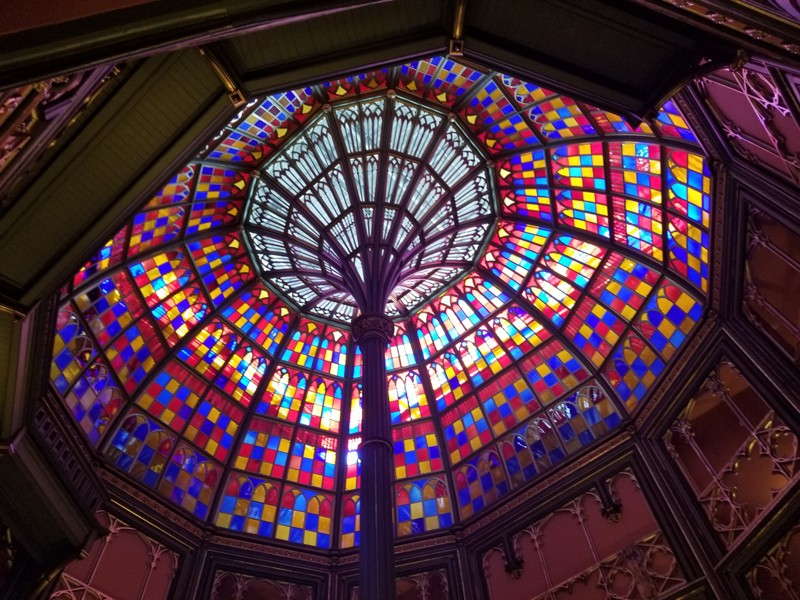 old state capitol museum stained glass dome