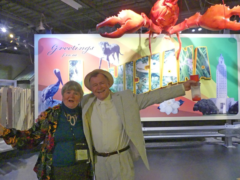 capitol park museum crawfish sign and docent