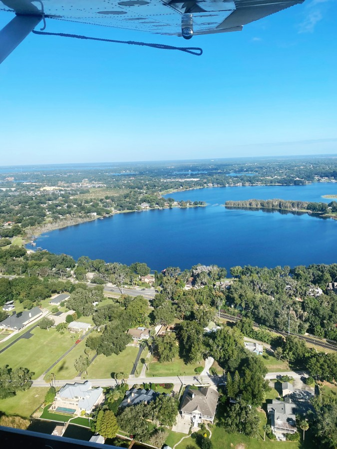 View of lake from seaplane